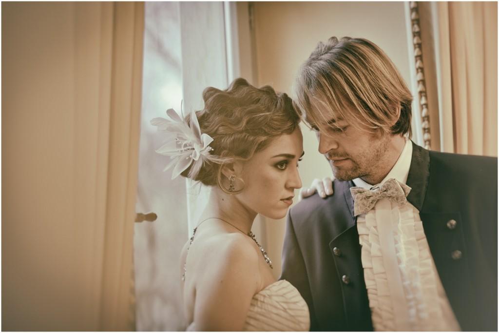 Zwanziger Jahre Hochzeitsfotos in der Villa Teresa @ Daniel Mangatter Fotografie